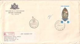 1977 SAN MARINO - FDC AASFN 100° Primi Francobolli S.Marino RACCOMANDATA. - FDC