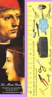 Marque-page °° La Main Gauche - Musicien Et Béatrice D'Estre - De Vinci - Verso Décimètre 5 X 20 - Marque-Pages