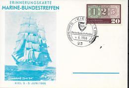 1966 Erinnerungskarte Marine-Bundestreffen - Briefe U. Dokumente