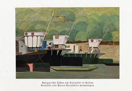 Bulgarische Kähne Auf Donaukai In Passau (nach Einem Gemälde Von Baron Barnbüle/ Druck, Entnommen Aus Zeitschrift / 1933 - Livres, BD, Revues