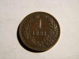 AUTRICHE - 1 KREUZER 1881. - Autriche