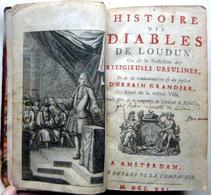 SORCELLERIE XVII°  ENVOUTEMENT HISTOIRE DES DIABLES DE LOUDUN URBAIN GRANDIER 1716 ESOTERISME MAGIE NOIRE - Documents Historiques