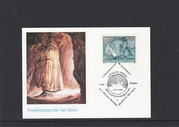 Österreich Tropfsteingrotte Bei Graz Briefmarkenwerbeschau 1989 - Österreich