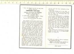 DP 7302 - GERMAINE VAN RAES - WERVICQ SUD 1893 + WERVIK 1968 - Imágenes Religiosas