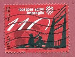 ITALIA REPUBBLICA USATO - 2016 - 110º Anniversario Fondazione Gruppo Salini Impregilo - € 0,95 - S. 3718 - 2011-...: Afgestempeld