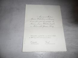 Document ( 493 ) Faire - Part Huwelijk  Waterloos / Loicq - Oostacker  Oostakker  Gand  Gent  1923 - Mariage