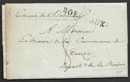 1811 - LAC Imprimé - MAIRIE DE BORDEAUX  -SIGNÉ PAR LE MAIRE JEAN BAPTISTE LYNCH - Marcophilie (Lettres)