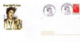 PAP Cachet Commémoratif 50 ème Anniversaire De Sa Venue à PARIS (1959/2009) - Elvis Presley