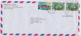 Turks And Caicos Islands Grand Turk BWI Enveloppe Lettre Affranchissement Timbre Fish Stamp Cover - Turks & Caicos (I. Turques Et Caïques)