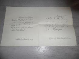 Document ( 495 ) Faire - Part Huwelijk  Uyttersprot / Segers / De Proost  / Van Damme - Lebbeke Neygem Neigem 1909 - Mariage