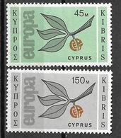8L-876: N° 251+252: Postfris: XXX  Europa - Chypre (République)