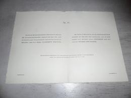Document ( 496 ) Faire - Part Huwelijk  De Paepe / Demaere / Pieyns / Buyle - Sleydinge Sleidinge Loochristy Lochristi - Mariage