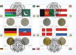 2006 UNO Wien  Mi. 477-84 FD-used Briefstück  Münzen Unf Flaggen - Wien - Internationales Zentrum