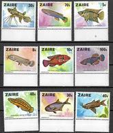8L-875: N° 918/26: Postfris: XXX  Vissen - Zaire