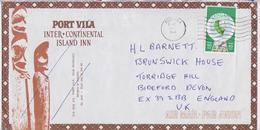 Vanuatu Port-Vila Enveloppe Affranchissement Timbre Volcan Volcano Map Stamp Cover - Vanuatu (1980-...)