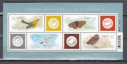 Canada 2008,4V In Block,birds,owl,vogels,vögel,oiseaux,pajaros,uccelli,aves,butterfly,vlinder,MNH/Postfris(L3395) - Vogels