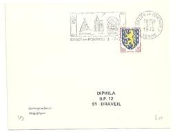SOMME - Dépt N° 80 = CRECY En PONTHIEU 1972 =  FLAMME SECAP Illustrée ' HISTOIRE / NATURE ' - Postmark Collection (Covers)