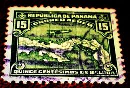 Panama,1930,Airplane Over Panama, Land Map. - Panama