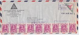Nicaragua Managua Correos Aereos Enveloppe Affranchissement Timbre 1952 Stamp Cover To Huntington - Nicaragua