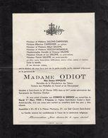 VP13.568 - SAINT ANDRE LEZ LILLE 1955 - Faire - Part De Décès De Mme ODIOT Retraitée De La Manufacture De Tabacs - Obituary Notices