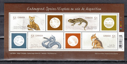 Canada 2006,4V In Block,marten,salamandersnake,fox,marter,slang,vos,MNH/Postfris(L3397) - Slangen