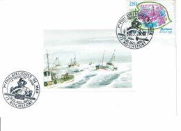 """1994 - Oblitération Temporaire """"7eme PHILATELIQUES DE LA MER - ROCHEFORT"""" Sur Carte """"Retour De La Pêche"""" - Tp N° 2885 - Cachets Commémoratifs"""