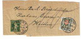 1934 - Collier De Journal - De Berne Pour Heiden - Départ Affranchi 5ct (tp N°136) Taxé à L'arrivée 10ct (n°57) - Portomarken