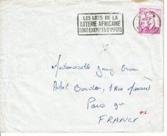 """1962 - Belgique Pour La France - Obl """"LES LOTS DE LA LOTERIE AFRICAINE SONT EXEMPTS D'IMPOTS"""" - Tp N° 1067 - Flammes"""