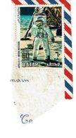 Timbre Apollo 11 - Moon Mission - Sur Fragment D'enveloppe - Qatar