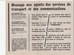 TRACT 39/45 - MESSAGE AUX FRANCAIS Et AUX BELGES - Historische Documenten