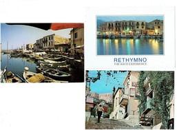 Lot 3 Cpm - Grèce - CORFU CORFOU - ATHENES Plaka RETHYMNO THE KRITI EXPERIENCE Le Port - Grèce