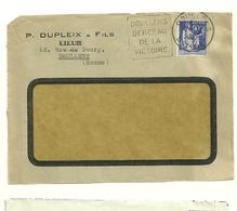 SOMME - Dépt N° 80 = DOULLENS 1939 = FLAMME DAGUIN ' BERCEAU De La VICTOIRE ' - Postmark Collection (Covers)