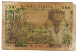Cameroun , 1000 Fr. P-12. Used , See Scan. - Cameroun