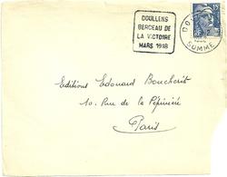 SOMME - Dépt N° 80 = DOULLENS 1952 (année En 4 Chiffres) = FLAMME DAGUIN ' BERCEAU De La VICTOIRE ' - Postmark Collection (Covers)
