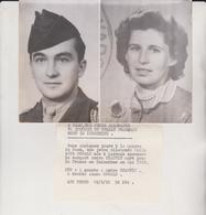 A CAEN UNE JEUNE ALLEMANDE VA EPOUSER UN SOLDAT FRANCAIS MORT RN INDOCHINE - Guerra, Militares