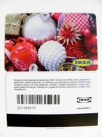 Plastic Magnetic Card Carte IKEA Gift Present Card, New Year Christmas Noel - Other Collections