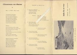 Belle Ile En Mer 56 - Sortie Brissonneau & Lotz - Menu Manoir De Goulphar, Chanson - Mai 1978 - Menus