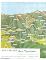 68 AUTOUR DU GRAND BALLON CARTE PANORAMIQUE MAQUETTE DE JEAN-PAUL KEONIG FORMAT 26 X 40 Cm - Geographical Maps
