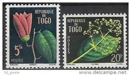 """Togo YT 276 & 277 """" Fleurs """" 1959 Neuf** - Togo (1960-...)"""