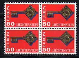 T1288 - LIECHTENSTEIN , Unificato N. 446 In Quartina ***   EUROPA CEPT - Europa-CEPT