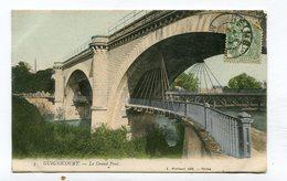 CPA  02 :  GUIGNICOURT   Le Pont Colorisé   A  VOIR  !!!!!!! - France