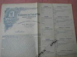 Lyon (vers 1930) Fabrique De Voilettes Ets. L. Robert Curieux Bon De Commande Et Demarchage - Dentelles Et Tissus