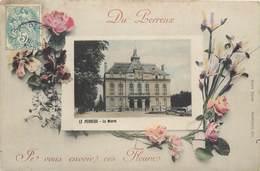 CPA 94 Val De Marne LE PERREUX SUR MARNE : La Mairie  Du Perreux Je Vous Envoie Ces Fleurs - Le Perreux Sur Marne