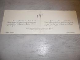 Document ( 511 ) Faire - Part Huwelijk  Van Den Houte / Van Den Bossche / Van Der Goten / Ledegen - Meldert 1940 - Mariage