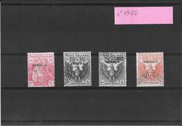 Somalia 1916-Croce Rossa Serie Compl. 19-22 ( Ref.434) - Somalie