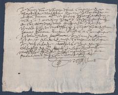 Manuscrit De 1636.Belle Calligraphie à Déchiffrer. - Manuscrits