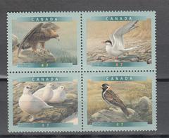 Canada 2001,4V In 4block,birds,vogels,vögel,oiseaux,pajaros,uccelli,aves,,MNH/Postfris(L3406) - Vogels