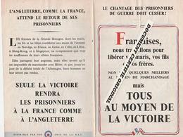 TRACT 39/45 - LE CHANTAGE DES PRISONNIERS DOIT CESSER - Historical Documents