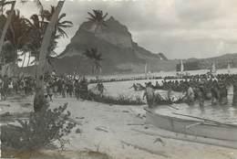 BORA BORA - Pêche Aux Cailloux, Stone Fishing. (carte Photo) - Polynésie Française