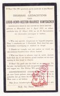 DP Kind - Louis Henri H. VanYsacker / Bouten 11j. ° Moorslede 1922 † 1934 - Images Religieuses